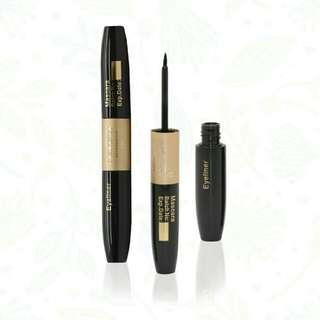 Casandra cosmetic 2 in 1 mascara eyeliner