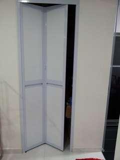 Aluminium Bi-Fold Toilet Door