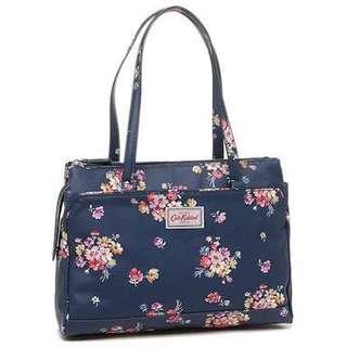 CATH KIDSTON Multi Pocket Handbag in Navy Mallory Bunch
