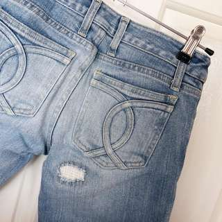 Bardot Distressed Blue Denim Jeans Size 6