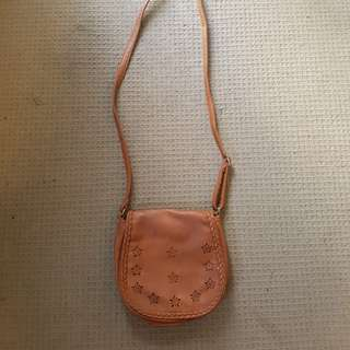 Brown boho small purse