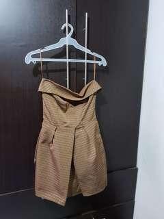 BROWN DRESS (ZARA BASIC)