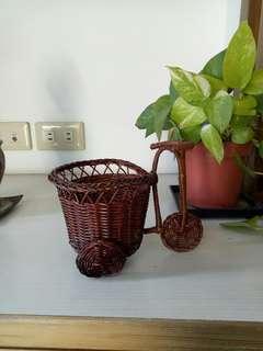 竹編腳踏車造型籃子
