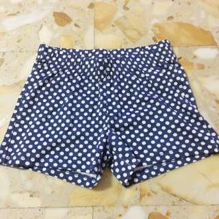 BNWT Navy blue with dot shorts
