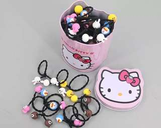 Hair bands with hello kitty box
