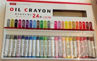 24 Colour Oil Crayon (Daiso)