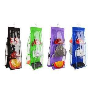 Medium Capacity Non-woven Storage Bag Hanging Multi-layer Perspective V2N7