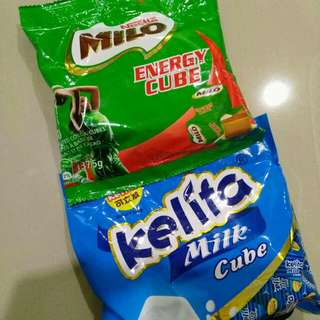 HALAL: Milo Cube & milk cube (Combo mix + freegift)