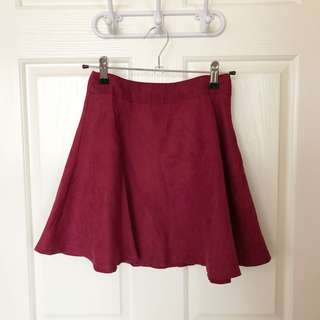 Maroon Burgandy Alive Girl A Line Skirt Size 6