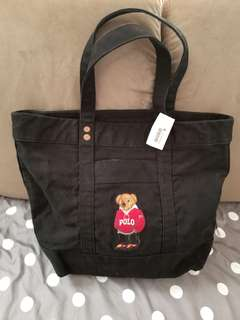 (New) Polo Ralph Lauren Hood Bear Tote Bag