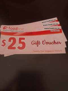 Foodline voucher x3