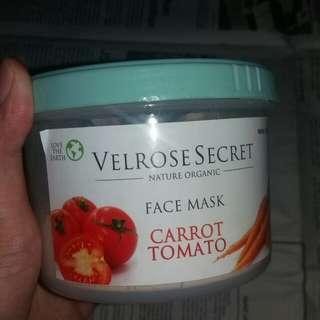 """VELROSE SECRET Face Mask """"CARROT TOMATO"""""""
