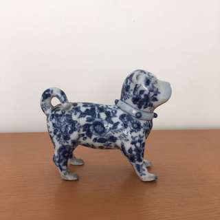 Blue and White Dog