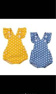 Baby girl newborn toddler infant romper summer polka dots jumpsuit