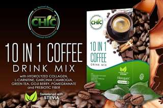 CHIC Cafe 10 in 1 . Slimming and anti aging coffee