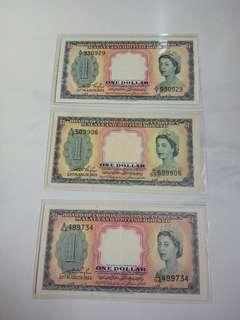 $1  - 1953年 Malaya  Queen