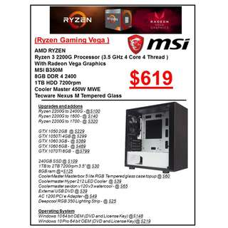 AMD RYZEN GAMING PC RIG CUSTOMISED CUSTOM BUILD PC services service