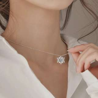 Buy 3 get 1 free 💋snow shape necklace S925 sliver anti-allergy  💋純銀聖誕雪花❄️靈動鎖骨鏈系列頸鍊 防敏感