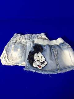Girls Denim Shorts for kids up to 12-24 months