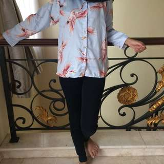 blouse flamingo