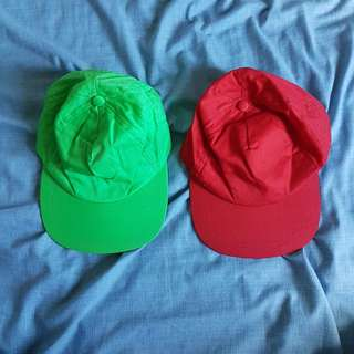 Green and red cap