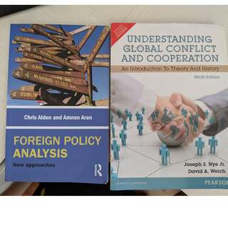 RSIS Sem 1 Books: 'Foreign Policy Analysis' and 'Understanding Global Cooperation'