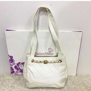 Chanel Vintage Quilted Caviar Small Tote Bag
