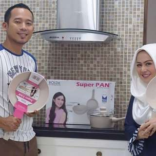 Super Pan Granite Series Beige Platinum Teflon Masak Anti Lengket Bolde