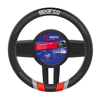 Sparco Steering Wheel Cover (Black and Red) SPC115RD