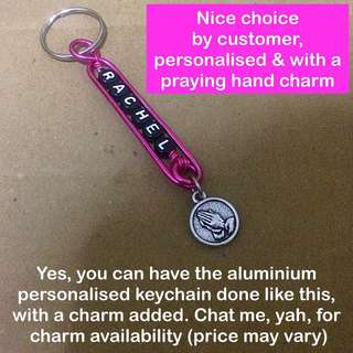 Aluminium Personalised Keychains / Dangles (Wirecraft fob) [customised gifts presents Children's Day Teacher's Valentine Raya Christmas  handmade uncle.anthony uncle anthony uac ]  FOR MORE PHOTOS & DETAILS, GO HERE: 👉Http://carousell.com/p/101405144