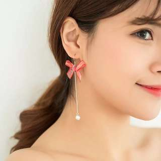 Buy 3 get 1 free 💋 bowknot earrings S925 sliver anti-allergy  💋純銀簡約蝴蝶結🎀系列耳環 防敏感