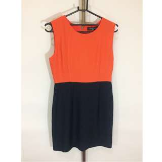 Two Tone Basic Dress