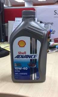 Engine Oil Shell Advance Ultra 10w-40