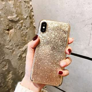 Iphone X case - Gold Speckles Hard Case