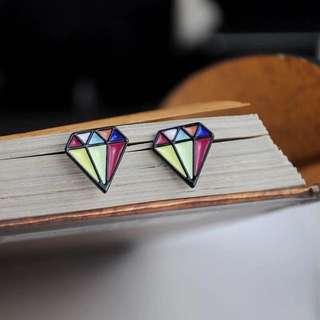 🚚 鑽石絢麗耳環
