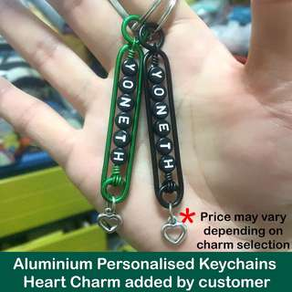 Aluminium Personalised Keychains / Dangles (Wirecraft fob) [customised gifts Children's Day Teacher's Valentine Raya Christmas  handmade uncle.anthony uncle anthony uac ]  FOR MORE PICTURES & DETAILS, GO HERE: 👉Http://carousell.com/p/101405144