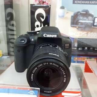 Kamera Canon EOS 750D DSLR (Kredit TANPA CC)