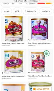 Similac total comfort stage 1 (0 to 12mths)