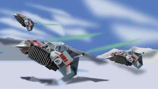 Snowspeeder On the move (printed illustration A3)