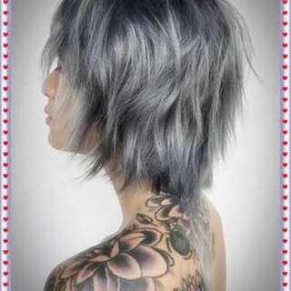 Ash Gray Hair Color Dye Set