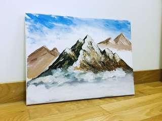 Handpainted Acrylic Painting  - New