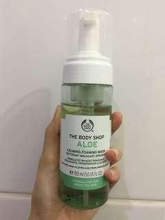 Preloved The Body Shop Aloe Calming Foaming Wash