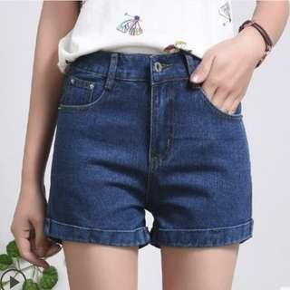 INSTOCK Dark Denim Shorts