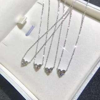 20分鑽石鎖骨鏈 heart diamond necklace