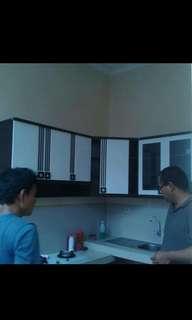 Kitchen set L 6 pintu minimalis