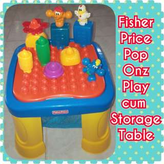 DISPLAY UNIT Fisher Price Pop Onz Play Table cum Storage