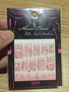 Show Time 3D Nail Sticker (Rose)