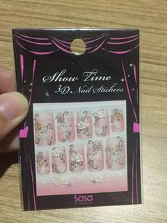 Show Time 3D Nail Sticker (White Flower)