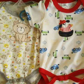 Preloved 0 to 3 mos. Onesies/ Rompers for Boys (2-pc)