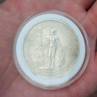 1897 British trade dollar $1